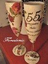 Kieliszki ręcznie dekorowane - ślub, rocznice, sylwester poszukuję Ślub / Wesele / Przyjęcia