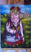 Dziewczynka w stroju Krakowskim Zdjęcie