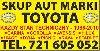 Kupię Toyotę Picnic Carina Corolla Hiace SKUP AUT Toyota poszukuję Samochody Osobowe