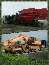 Niskopodwoziowy Ponadgabarytowy transport maszyn rolniczych Zdjęcie